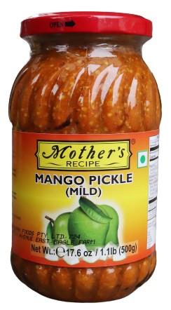 Mother`s Mango Pickle (Mild) 500g